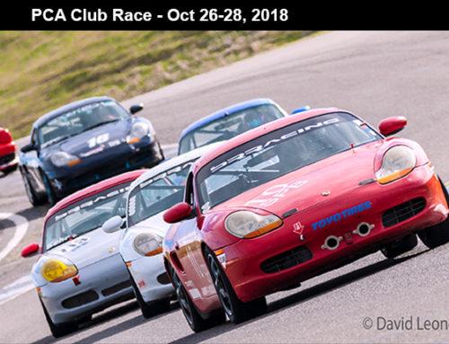 PCA Club Race – Oct 27-29, 2018